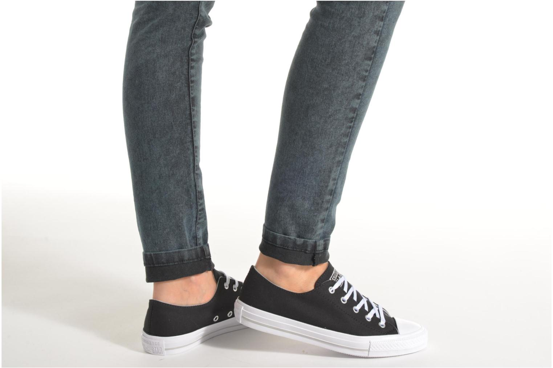 Sneakers Converse Chuck Taylor All Star Gemma Twill Ox Bianco immagine dal basso