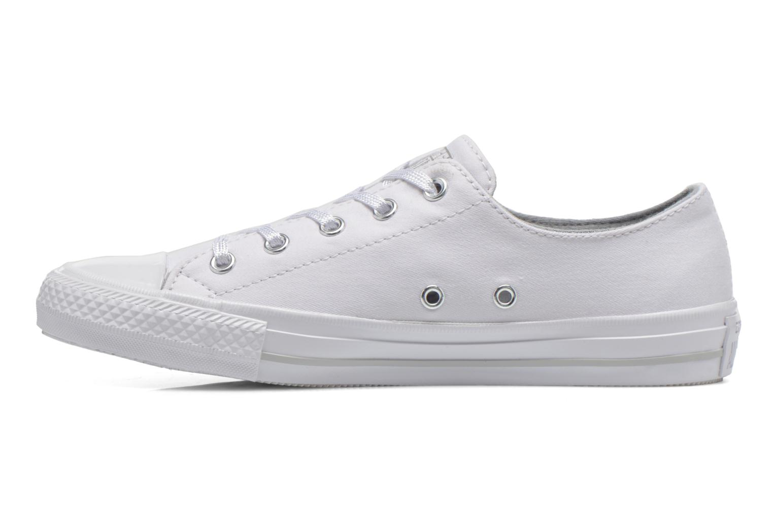 Sneakers Converse Chuck Taylor All Star Gemma Twill Ox Bianco immagine frontale