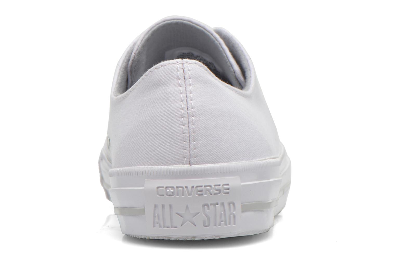 Sneakers Converse Chuck Taylor All Star Gemma Twill Ox Bianco immagine destra