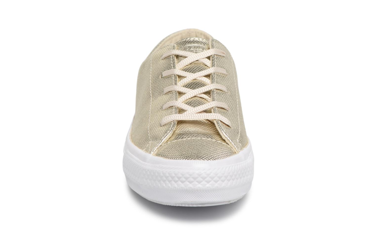 Trainers Converse Ctas Gemma Diamond Foil Leather Ox Bronze and Gold model view
