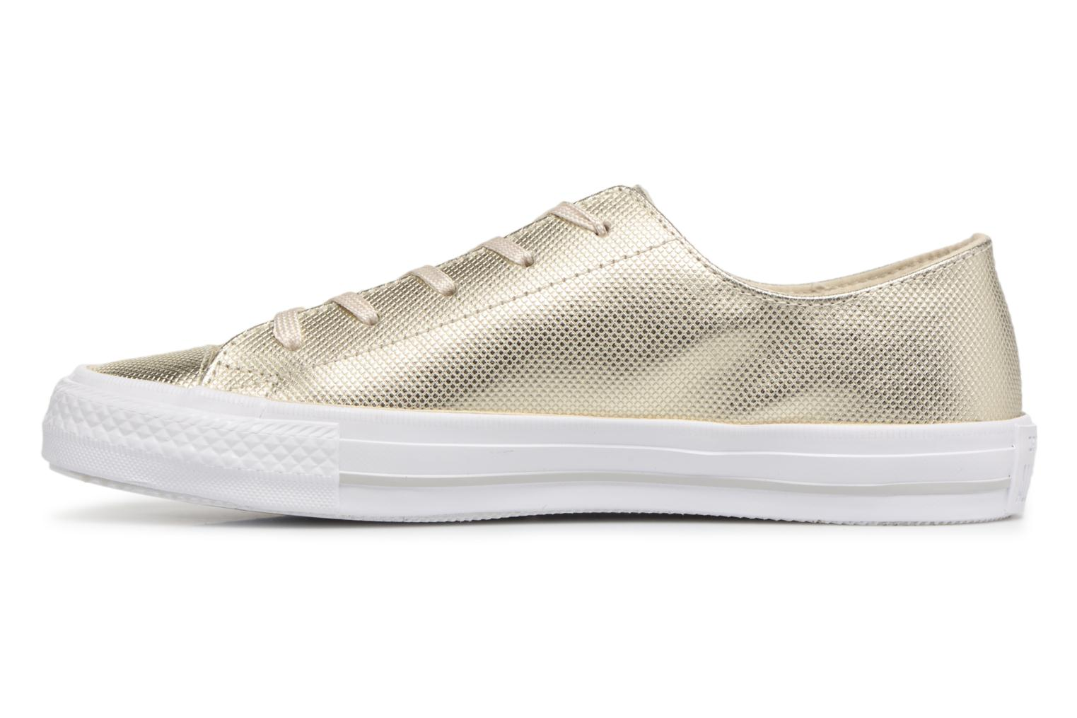 Trainers Converse Ctas Gemma Diamond Foil Leather Ox Bronze and Gold front view