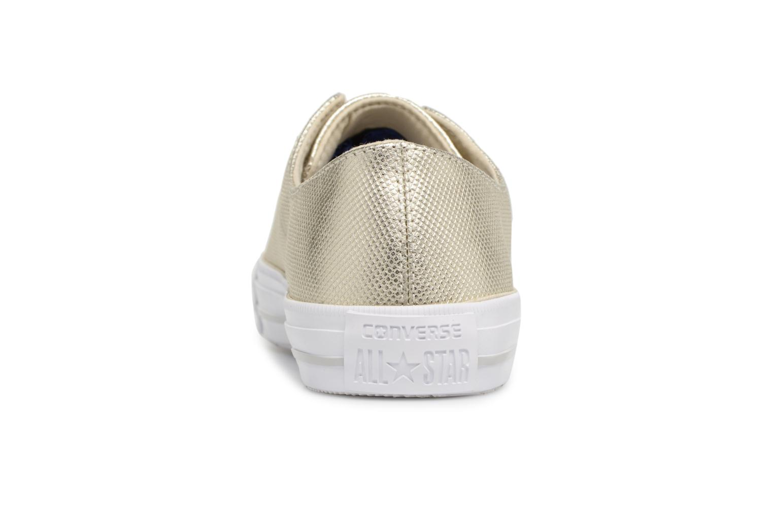 Trainers Converse Ctas Gemma Diamond Foil Leather Ox Bronze and Gold view from the right