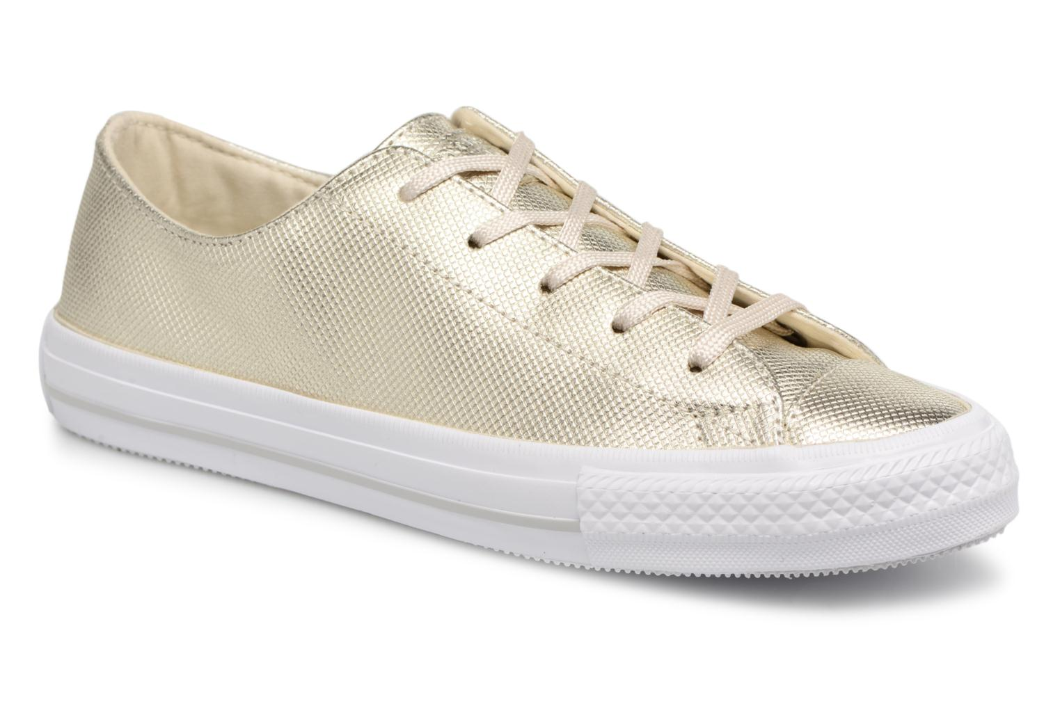 Trainers Converse Ctas Gemma Diamond Foil Leather Ox Bronze and Gold detailed view/ Pair view