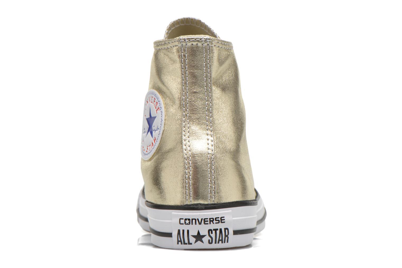 Baskets Converse Chuck Taylor All Star Hi Metallics W Or et bronze vue droite