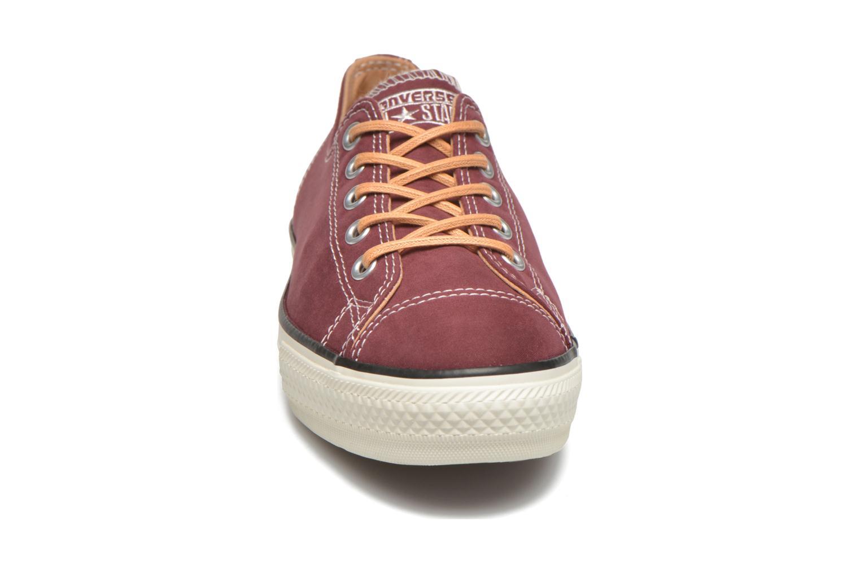 Baskets Converse Ctas High Line Peached Canvas Ox Rouge vue portées chaussures