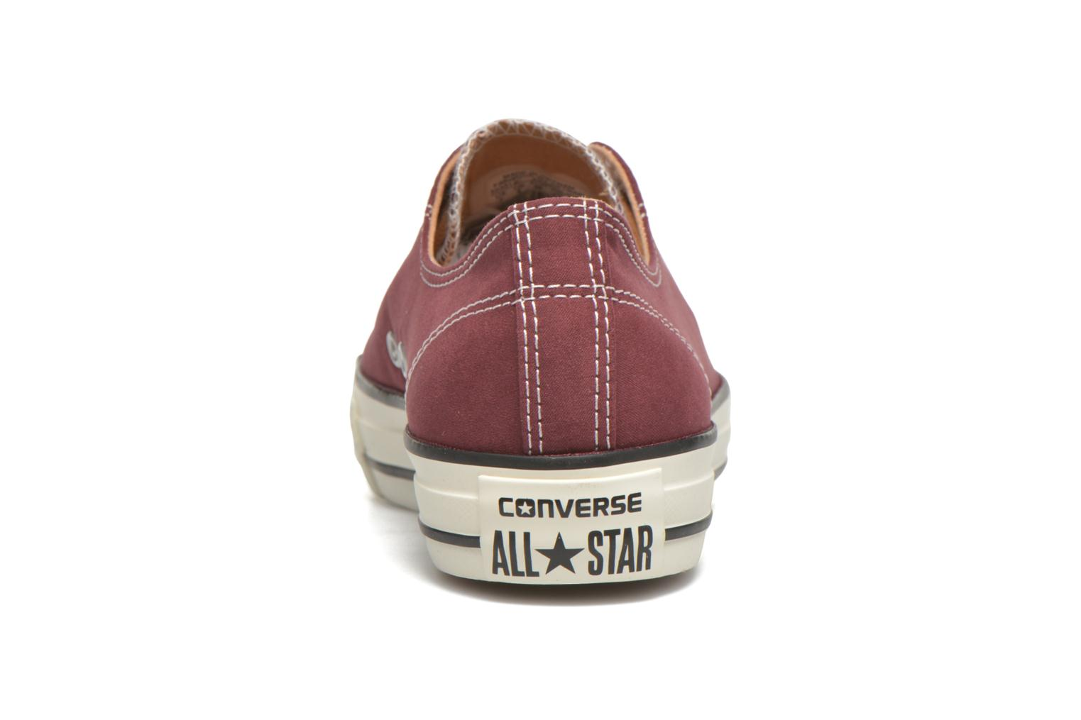 Trainers Converse Ctas High Line Peached Canvas Ox Red view from the right