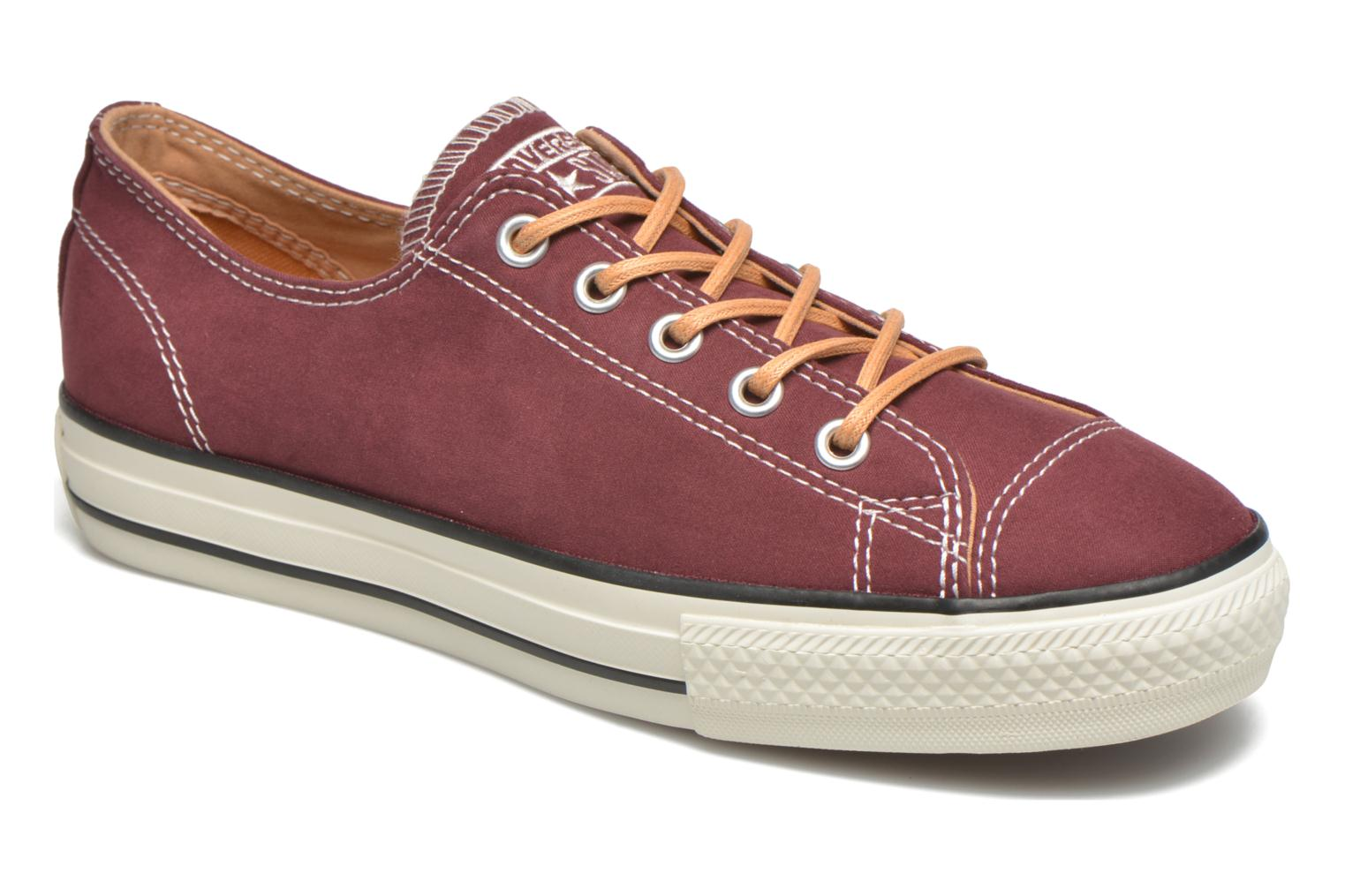 Trainers Converse Ctas High Line Peached Canvas Ox Red detailed view/ Pair view