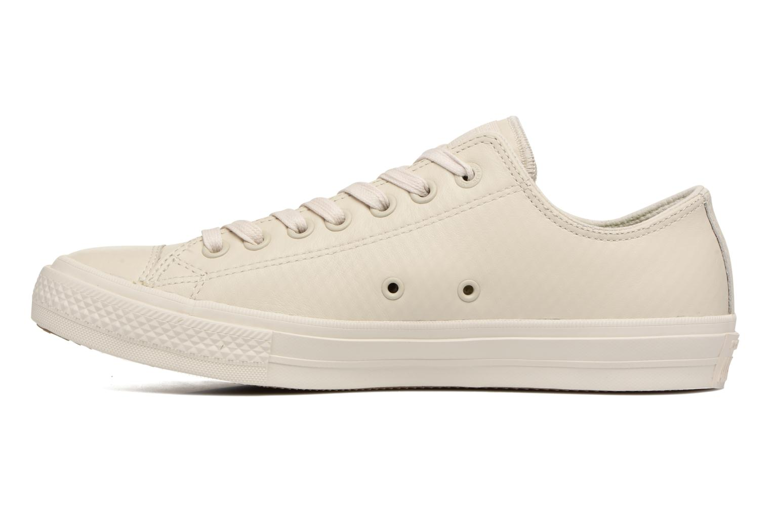 Baskets Converse Chuck Taylor All Star II Mesh-Backed Leather Ox M Beige vue face