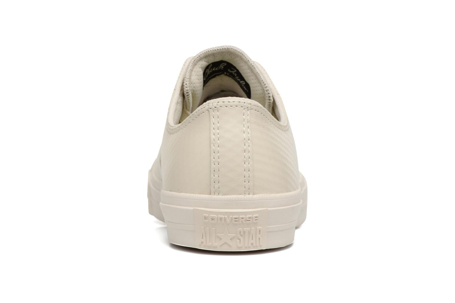 Baskets Converse Chuck Taylor All Star II Mesh-Backed Leather Ox M Beige vue droite