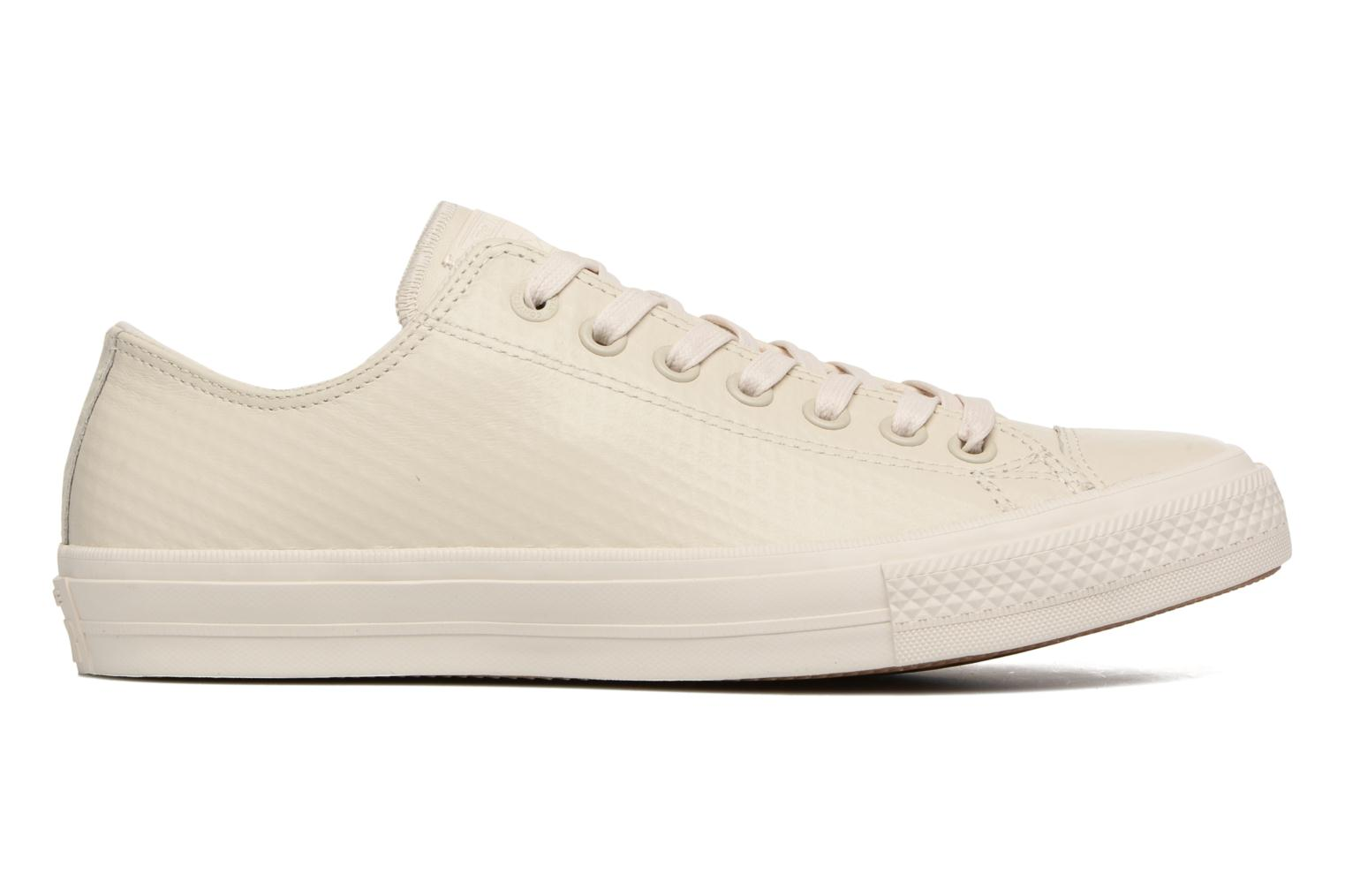 Baskets Converse Chuck Taylor All Star II Mesh-Backed Leather Ox M Beige vue derrière
