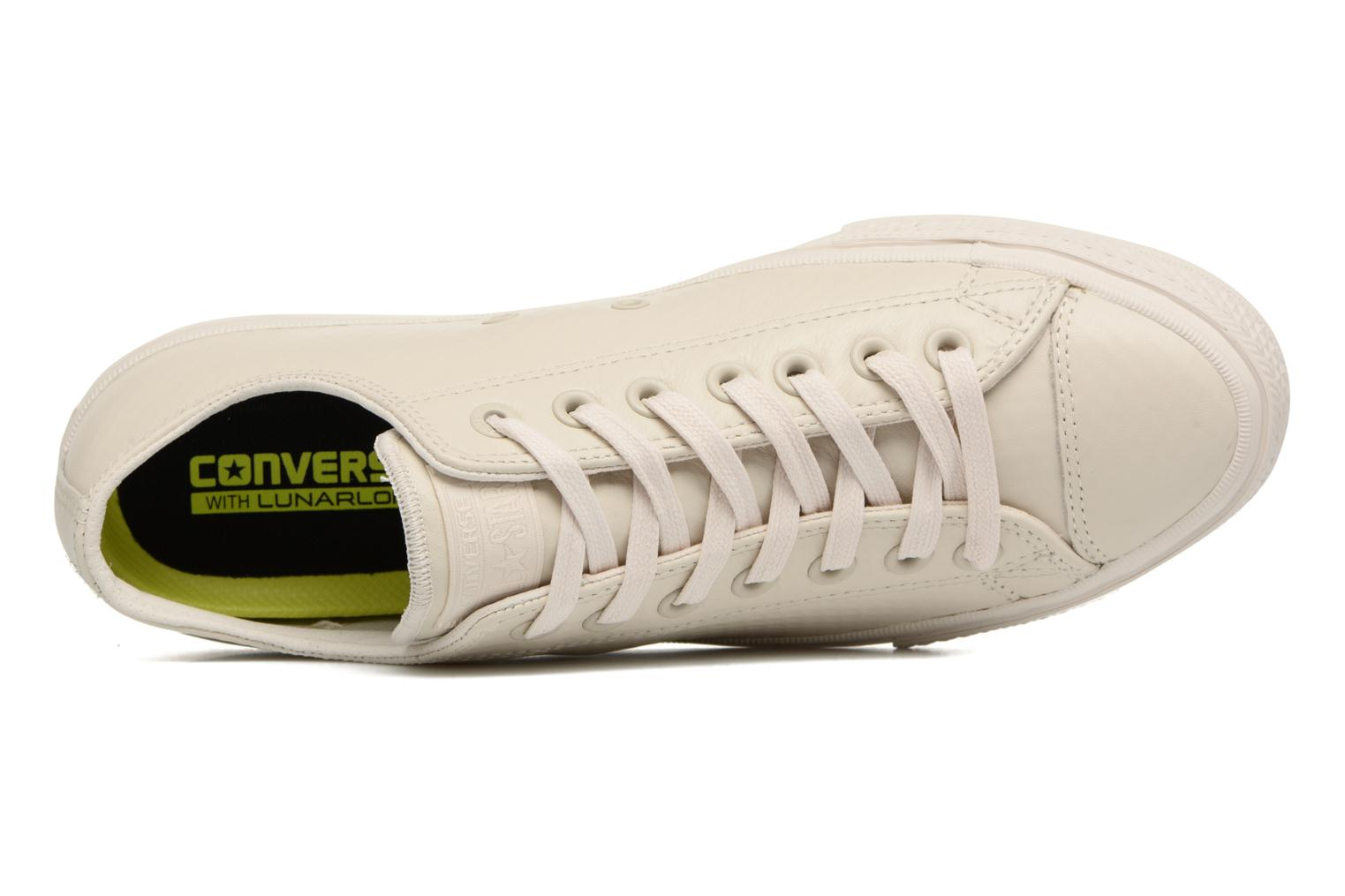 Baskets Converse Chuck Taylor All Star II Mesh-Backed Leather Ox M Beige vue gauche