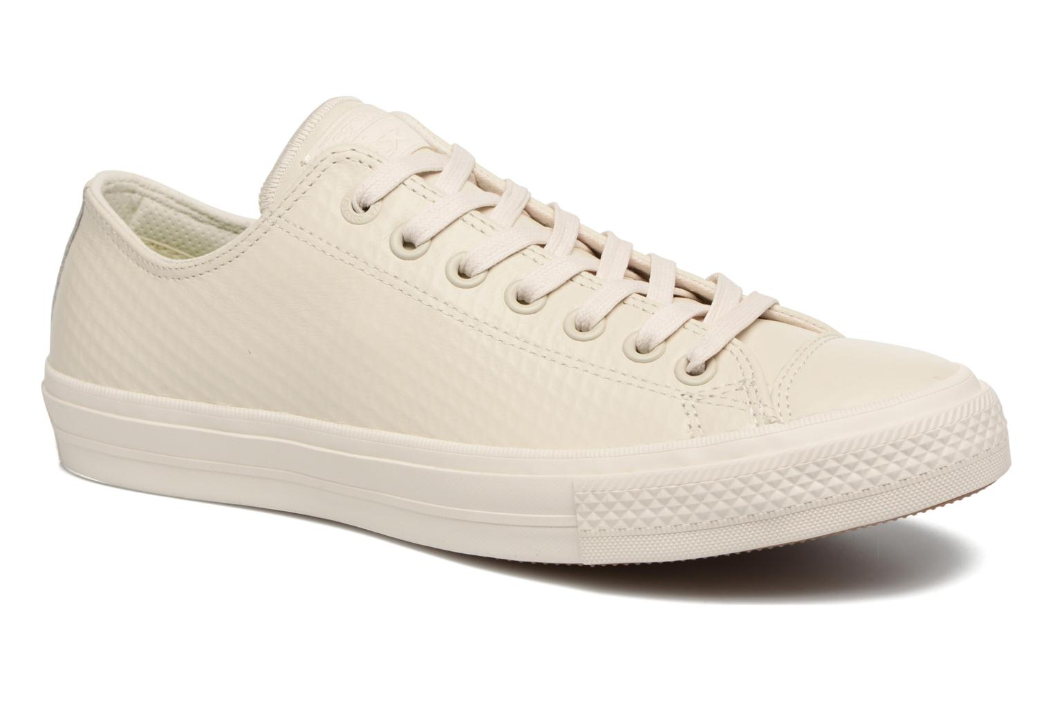 Baskets Converse Chuck Taylor All Star II Mesh-Backed Leather Ox M Beige vue détail/paire