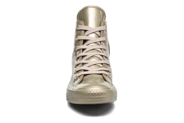 Baskets Converse Ctas Metallic Rubber Hi W Or et bronze vue portées chaussures