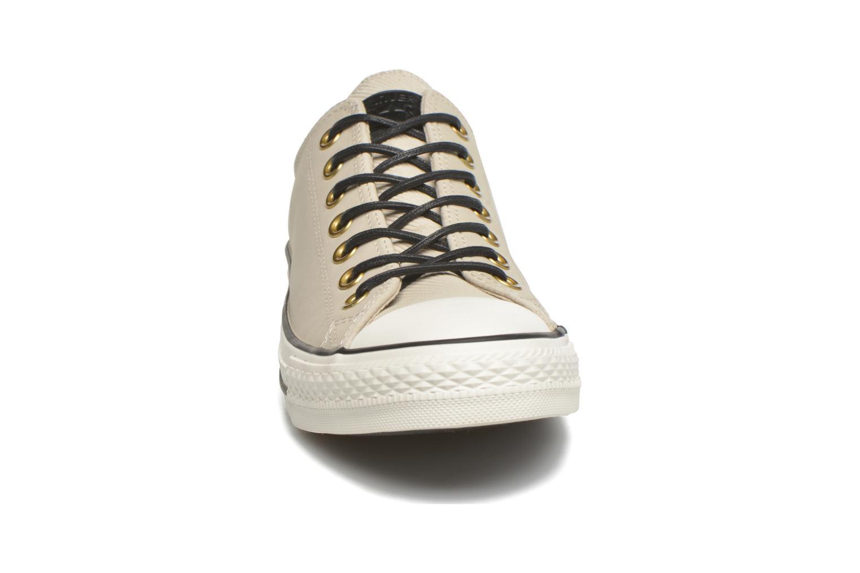 Baskets Converse Ctas Ox Lthr M Beige vue portées chaussures