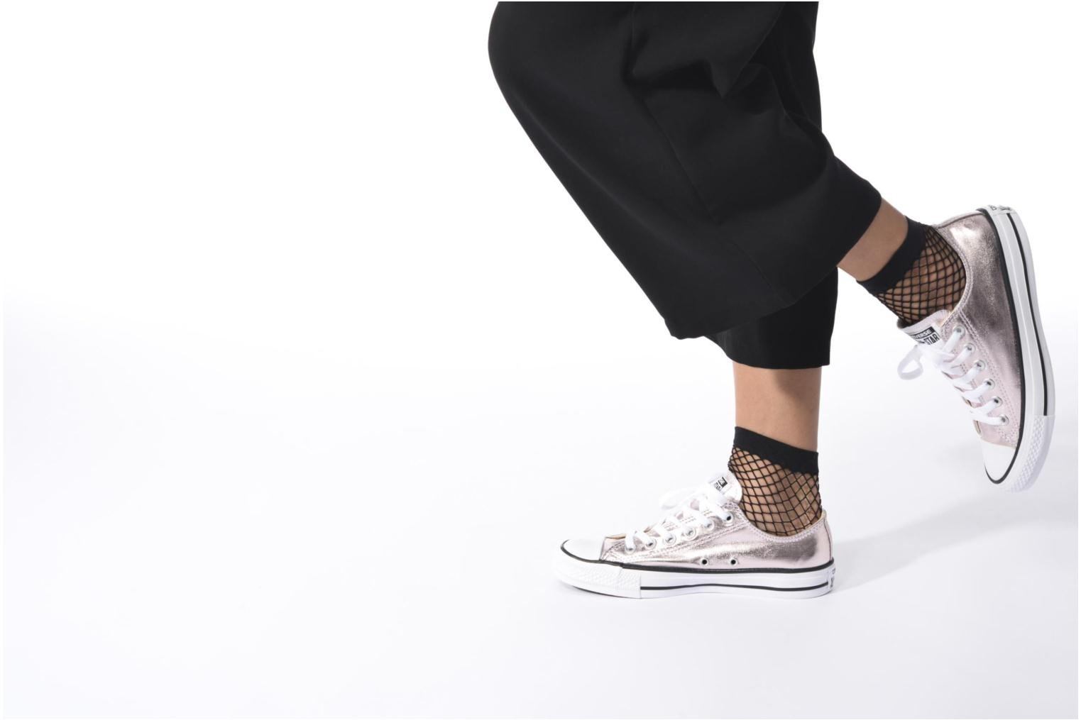 Trainers Converse Chuck Taylor All Star Ox Metallics W Silver view from underneath / model view