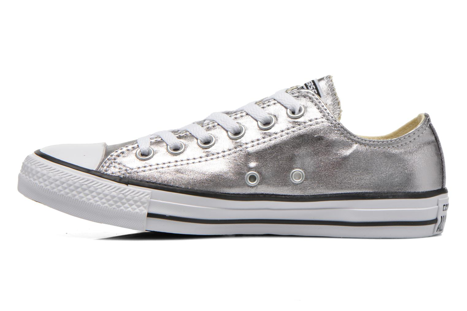 Trainers Converse Chuck Taylor All Star Ox Metallics W Silver front view