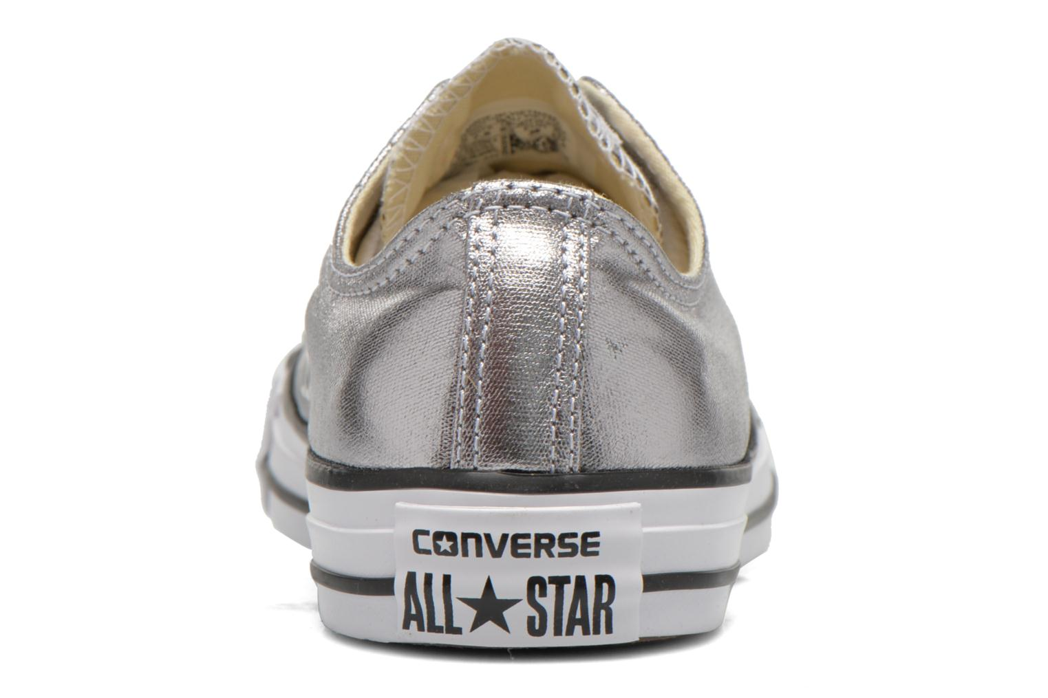 Trainers Converse Chuck Taylor All Star Ox Metallics W Silver view from the right