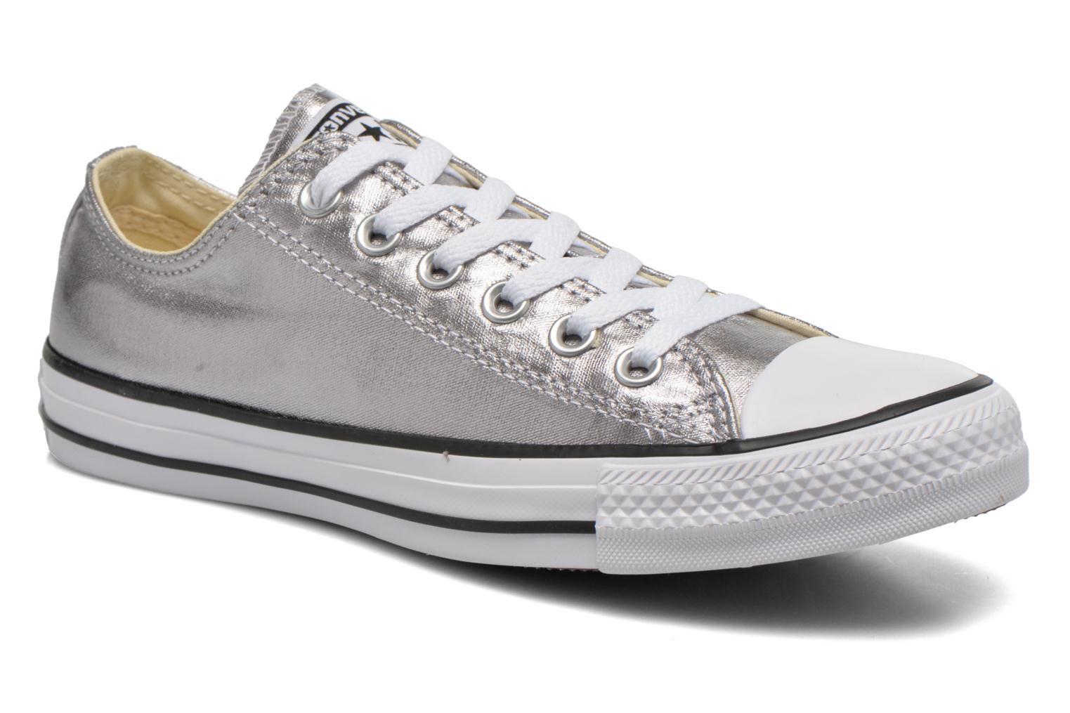 Trainers Converse Chuck Taylor All Star Ox Metallics W Silver detailed view/ Pair view