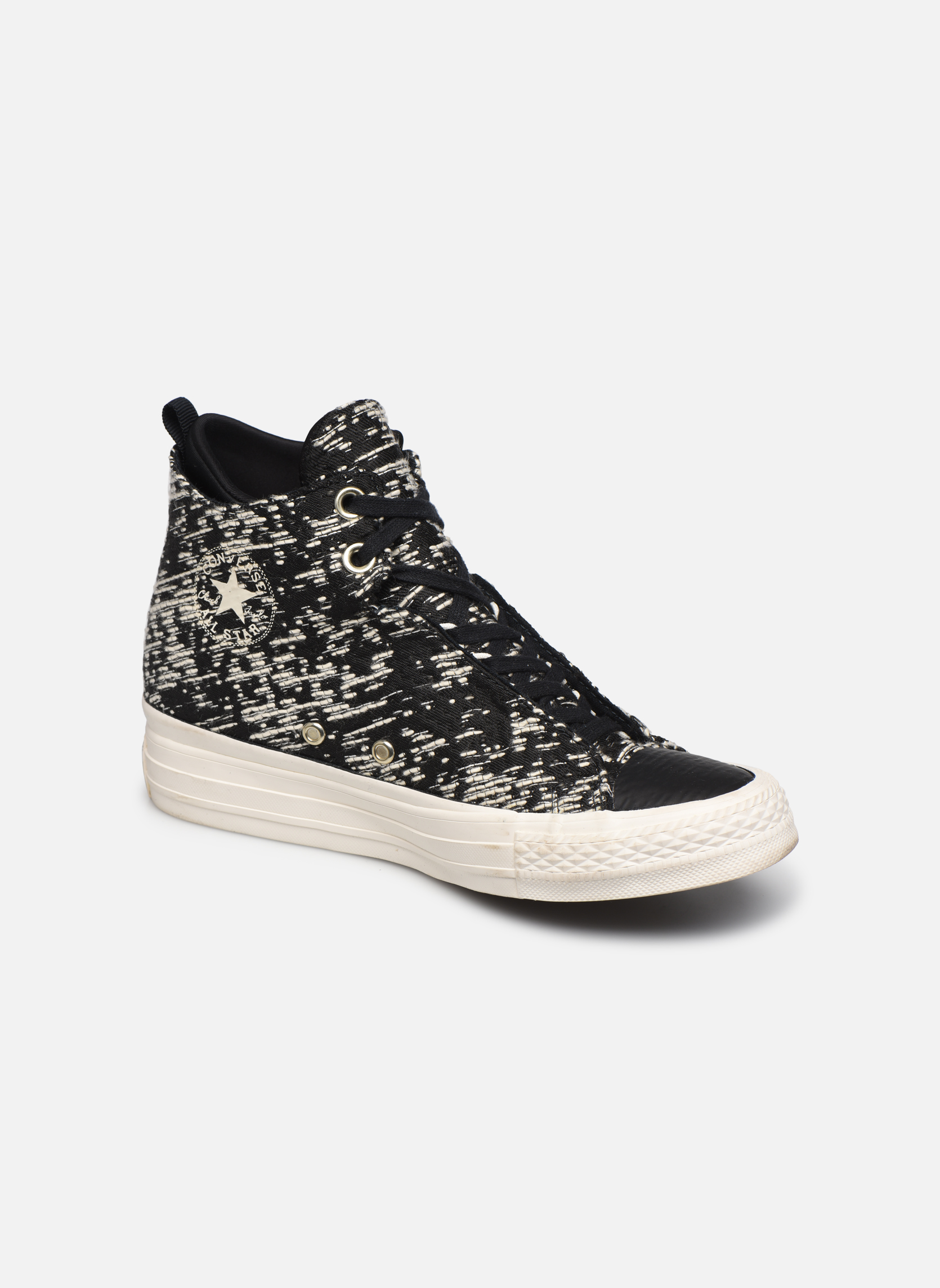 Black/gold Converse Ctas Selene Winter Knit Mid (Noir)