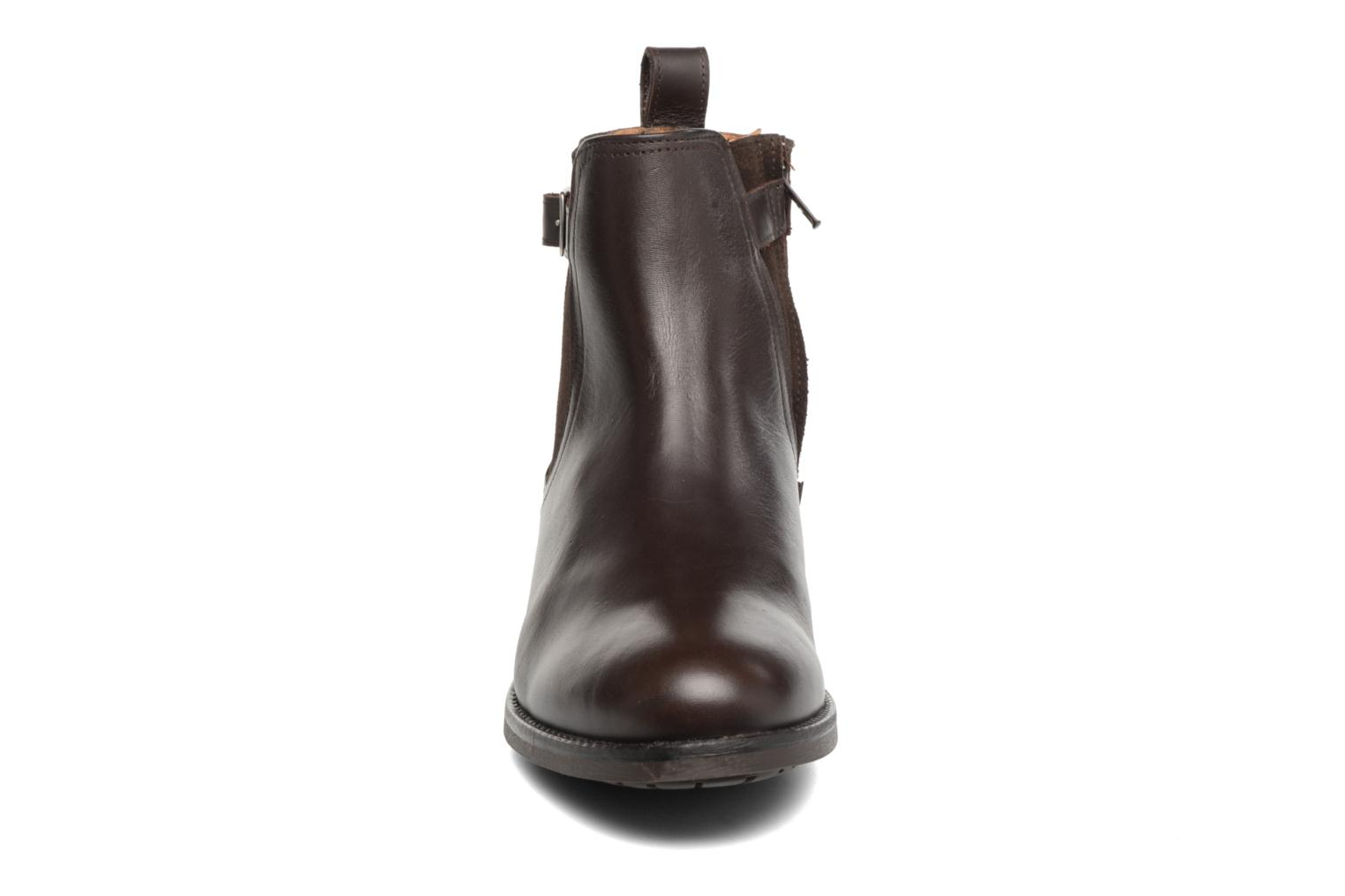 Ankle boots Aigle Chante Conti Brown model view