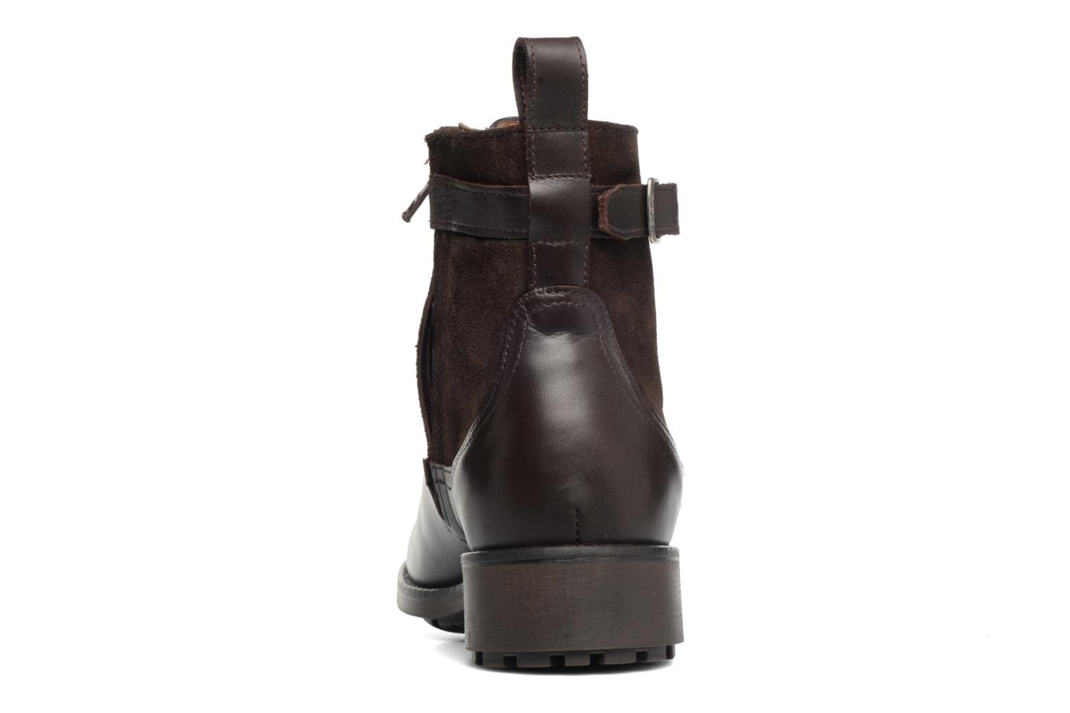 Ankle boots Aigle Chante Conti Brown view from the right