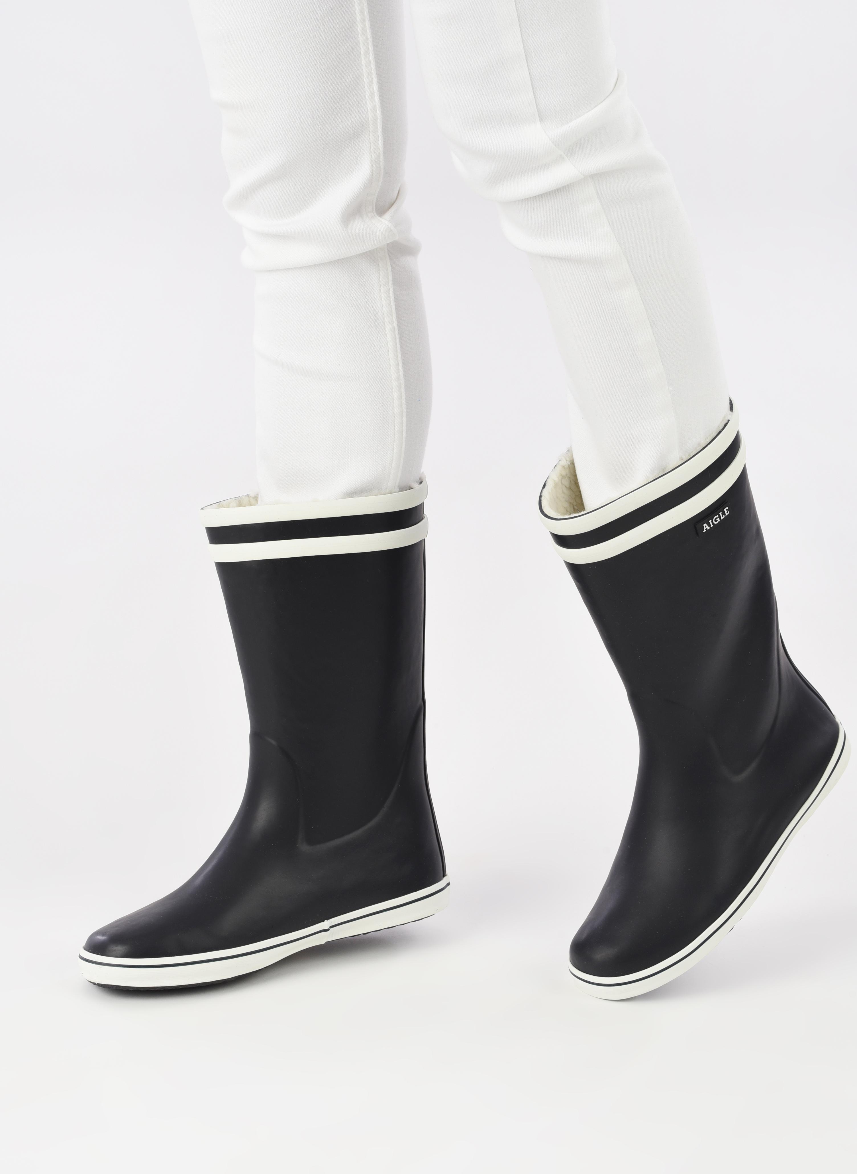 Malouine Fur Marine/blanc