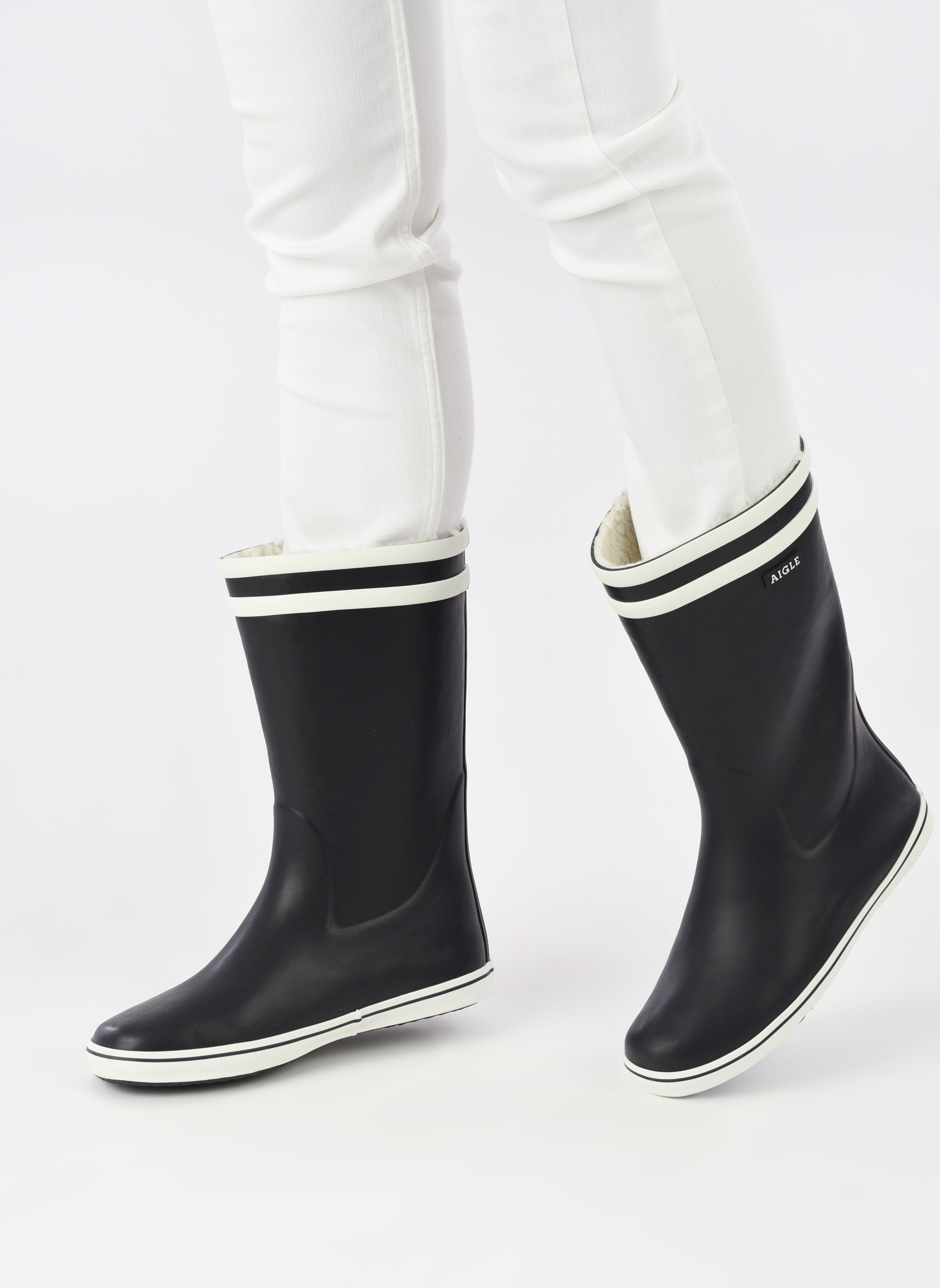 Støvler & gummistøvler Aigle Malouine Fur Blå se forneden