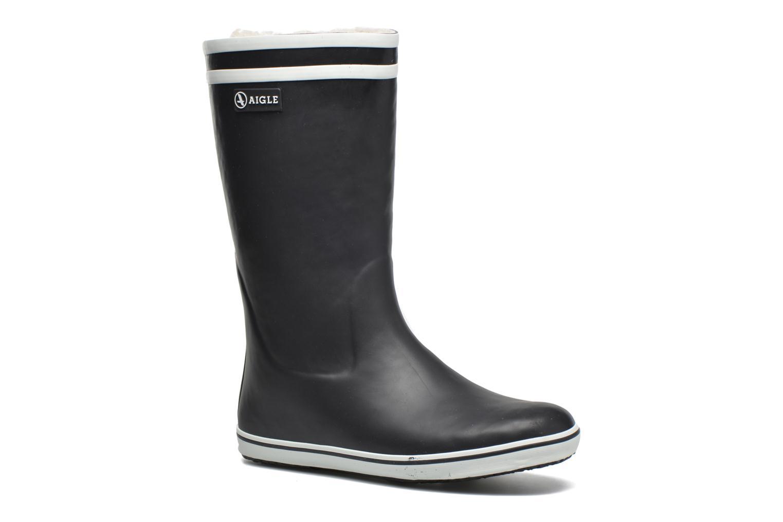 Støvler & gummistøvler Aigle Malouine Fur Blå detaljeret billede af skoene