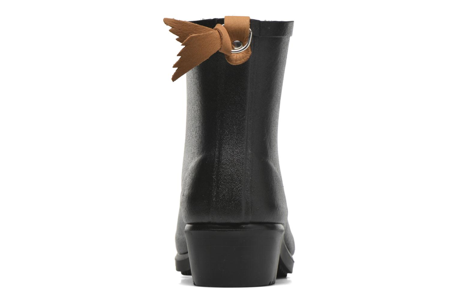 Ankle boots Aigle Miss Juliette Botillon Fur Black view from the right