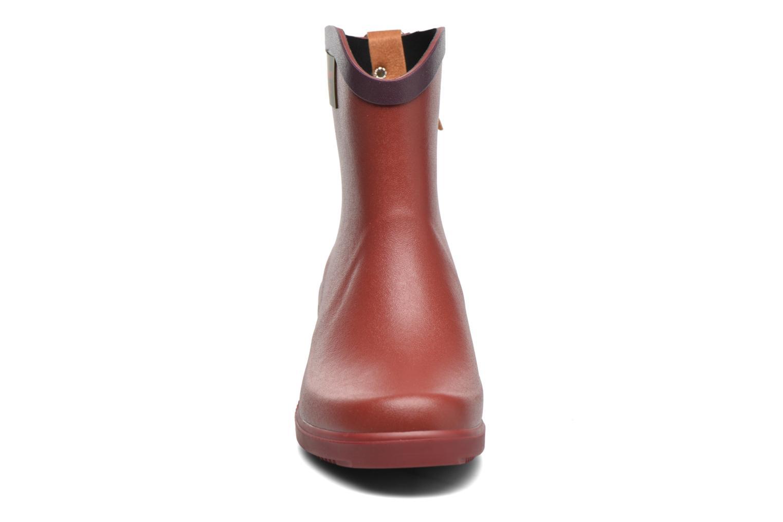 Bottines et boots Aigle Miss Juliette Bottillon BS Rouge vue portées chaussures