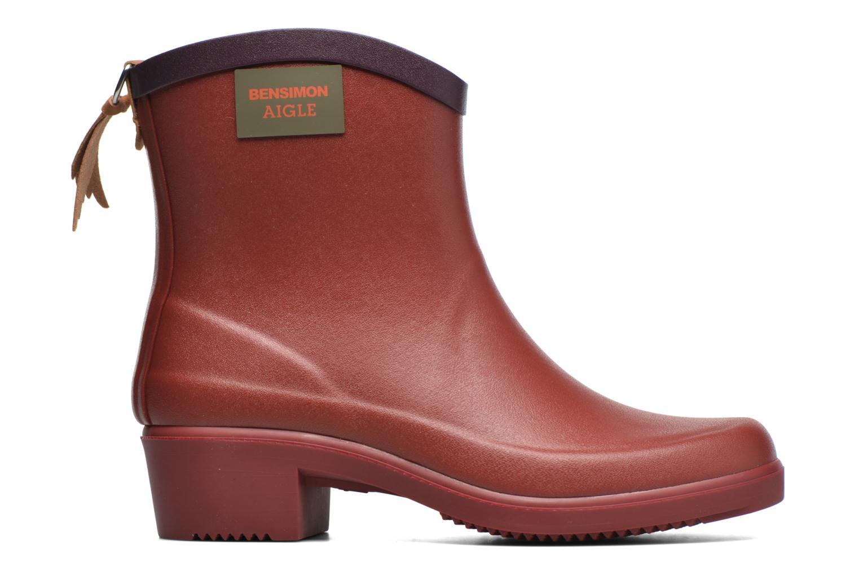 Bottines et boots Aigle Miss Juliette Bottillon BS Rouge vue derrière