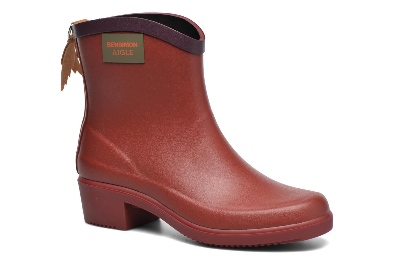 Bottines et boots Aigle Miss Juliette Bottillon BS Rouge vue détail/paire