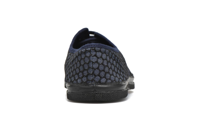 Baskets Bensimon Tennis Denim brodé Bleu vue droite