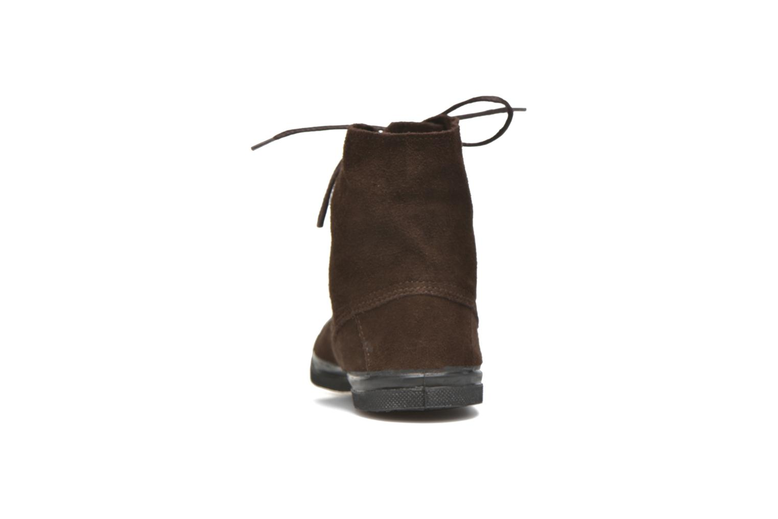 Trainers Bensimon Boots Dakota Brown view from the right