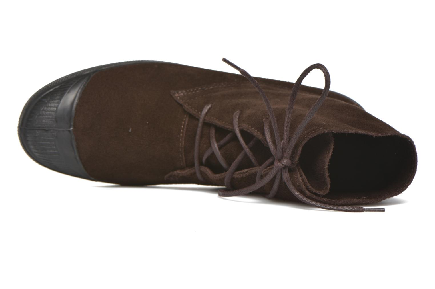 Trainers Bensimon Boots Dakota Brown view from the left