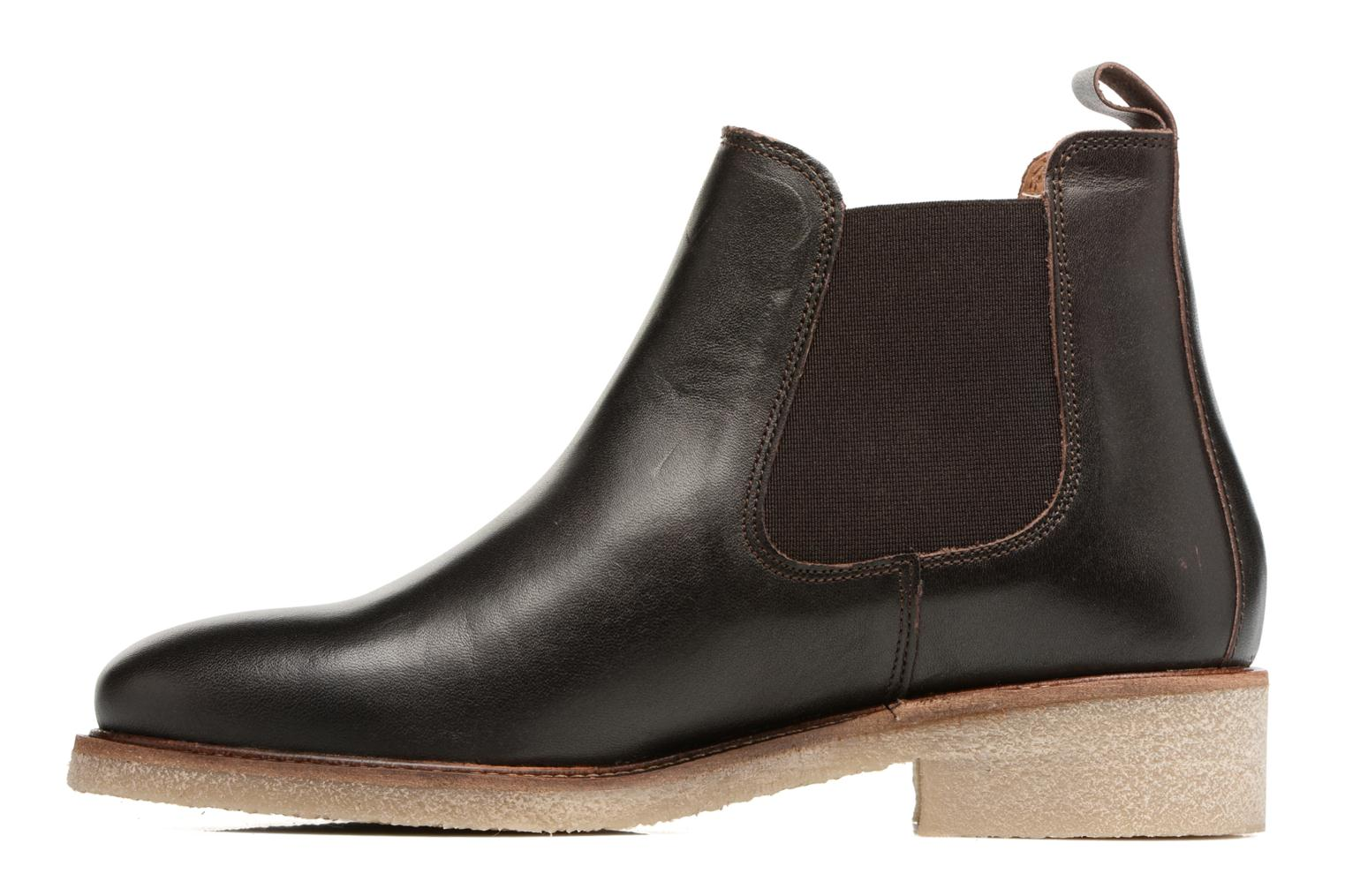 Ankle boots Bensimon Boots semelle crepe Brown front view