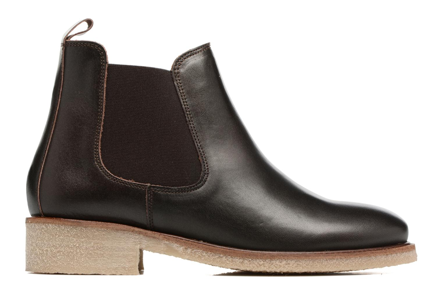 Ankle boots Bensimon Boots semelle crepe Brown back view