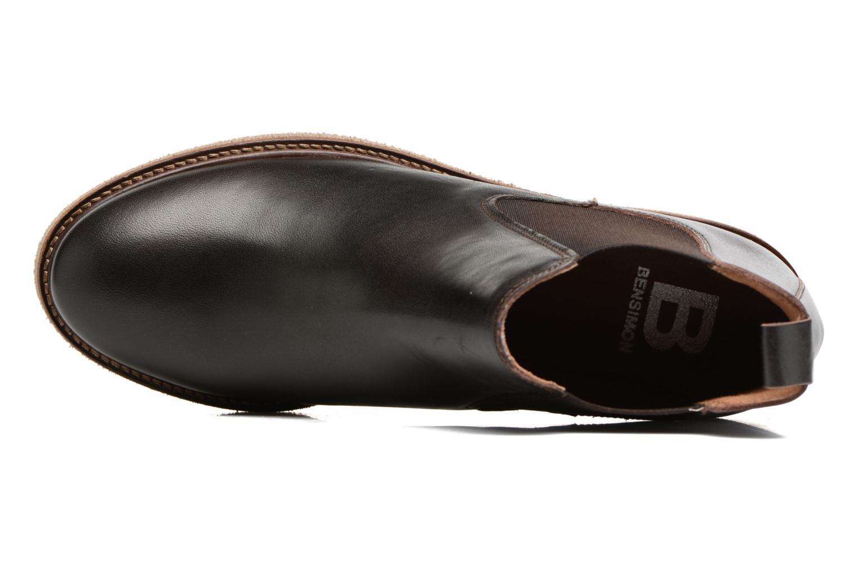 Boots semelle crepe Brun