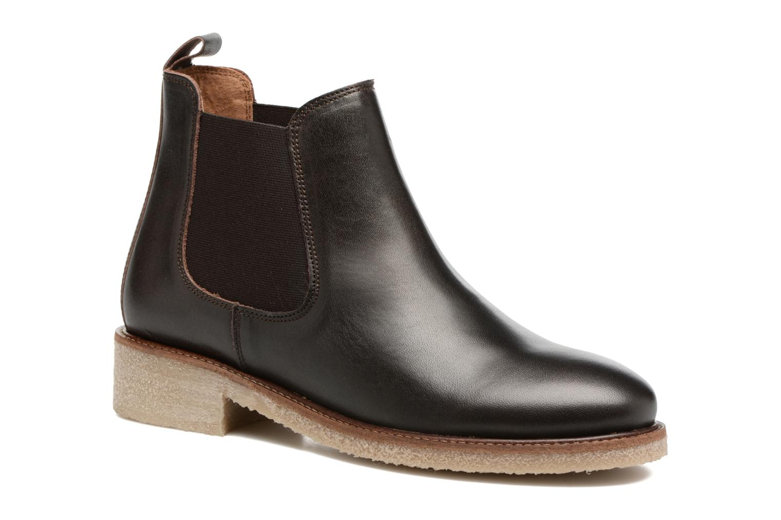 Ankle boots Bensimon Boots semelle crepe Brown detailed view/ Pair view