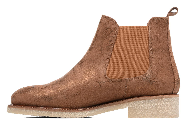 Botines  Bensimon Boots semelle crepe Oro y bronce vista de frente