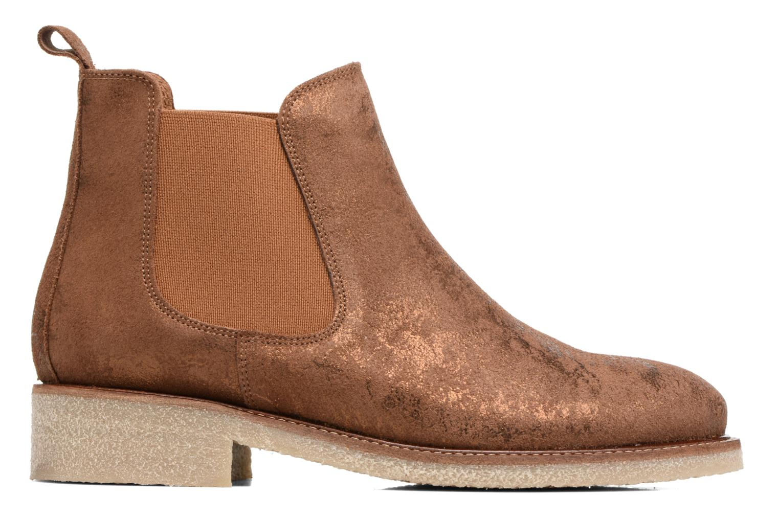Ankle boots Bensimon Boots semelle crepe Bronze and Gold back view