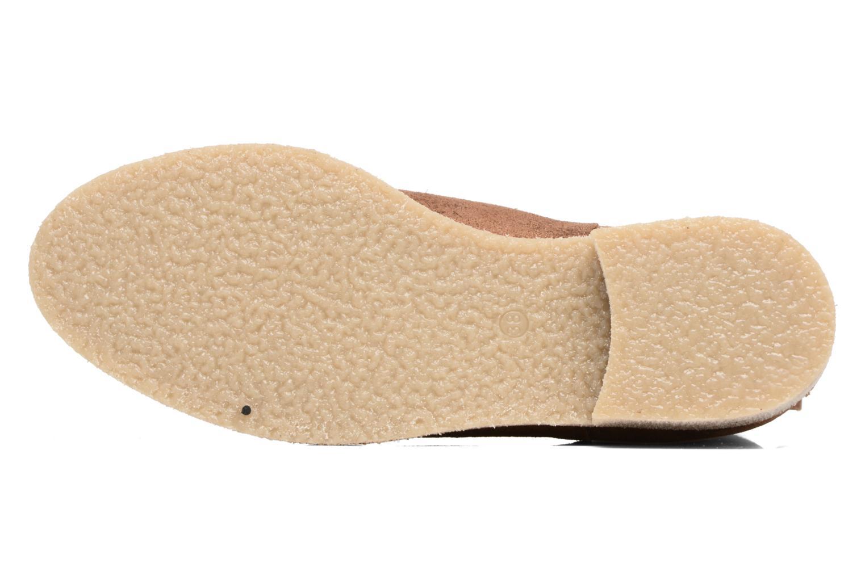 Botines  Bensimon Boots semelle crepe Oro y bronce vista de arriba