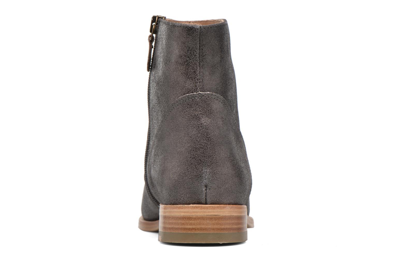 Bottines et boots Bensimon Boots croute velours plate Gris vue droite