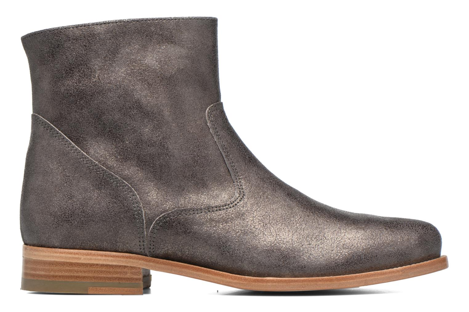 Ankle boots Bensimon Boots croute velours plate Grey back view