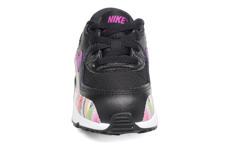 Baskets Nike Nike Air Max 90 Print Mesh Td Noir vue portées chaussures