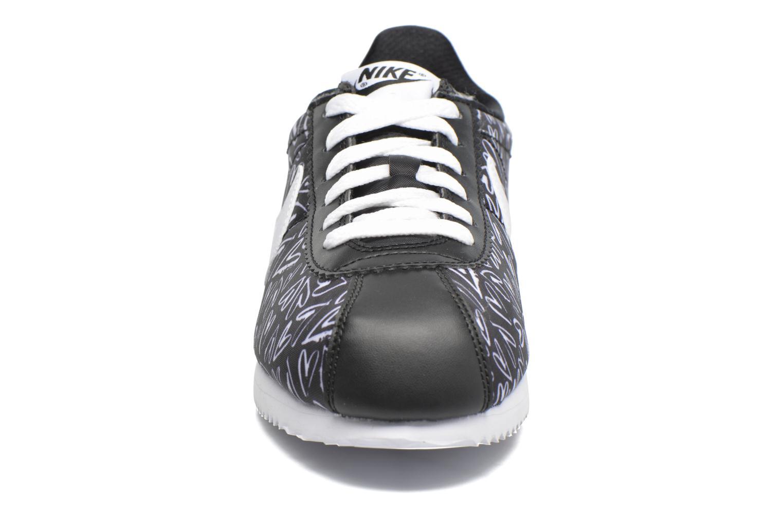Sneaker Nike Nike Cortez Nylon Print (Gs) schwarz schuhe getragen