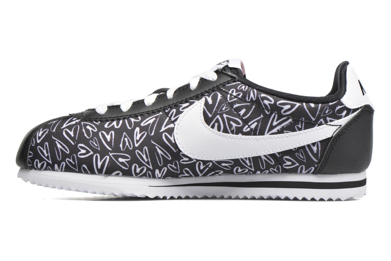 Sneaker Nike Nike Cortez Nylon Print (Gs) schwarz ansicht von vorne