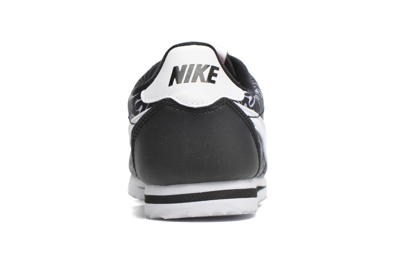Nike Cortez Nylon Print (Gs) Black/White-Lava Glow