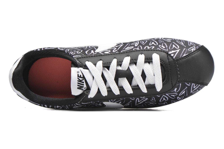 Sneaker Nike Nike Cortez Nylon Print (Gs) schwarz ansicht von links