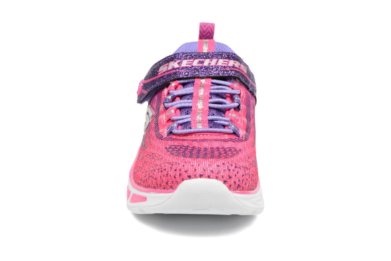 Baskets Skechers Litebeams Rose vue portées chaussures